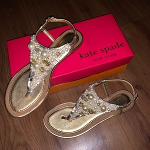 Kate Spade Flat Sandals - 8.5 (Only Worn Once)